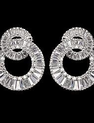 baratos -liga de prata com zirconia cúbica brincos de casamento estilo elegante