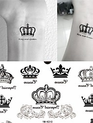 cheap -1 Pc Imperial Crown Tattoo Stickers Temporary Tattoos