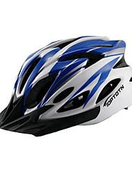Capacete ( Vermelho/Preto/Azul , PC/EPS ) - Montanha/Estrada - Unisexo 18 AberturasCiclismo/Ciclismo de Montanha/Ciclismo de Estrada/Ciclismo de