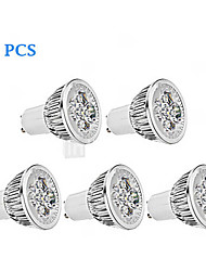 cheap -5pcs 300lm GU10 LED Spotlight MR16 4 LED Beads High Power LED Dimmable Warm White / Cold White 85-265V / 220-240V