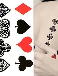 baratos -Etiqueta do tatuagem Corpo / Mãos / tornozelo Tatuagens temporárias 1 pcs Série Romântica Design especial / Amiga-do-Ambiente Arte para o Corpo Diário / Praia