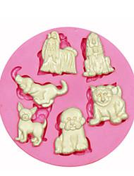 molde de multi bonito cão de estimação bolo molde de silicone decoração silicone para artesanato doces fondant jóias argila resina pmc