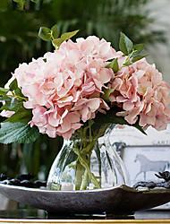 california carne ortensie rosa fiori artificiali con vaso