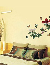 cheap -Still Life Fashion Florals Botanical Fantasy Wall Stickers Plane Wall Stickers Decorative Wall Stickers, Vinyl Home Decoration Wall Decal