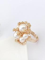 Массивные кольца Жемчуг Искусственный жемчуг Сплав Мода Pоскошные ювелирные изделия Белый Бижутерия Для вечеринок 1шт