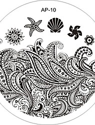 Nail Art Stamp Stamping Image Template Plate AP Series NO.10