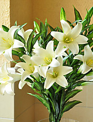 cheap -1 Branch Silica Gel Lilies Tabletop Flower Artificial Flowers