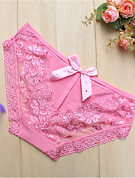 les vêtements de nuit fantaisie pour femmes& loungewear jacquard ultra sexy culotte dentelle noir / rose / blanc