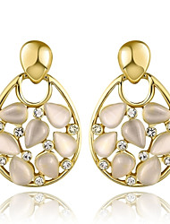 cheap -Women's Stud Earrings Drop Earrings Multi-stone Cubic Zirconia Basic Sexy Statement Jewelry Elegant Sweet Gold Plated Rose Gold Plated