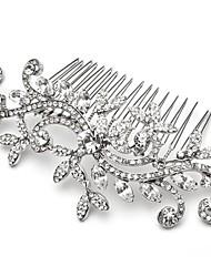 economico -pettini di capelli di foglia di cristallo della damigella d'onore da cerimonia nuziale della festa nuziale pettini lo stile elegante