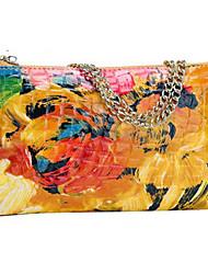cheap -Women's Flowers Patent Leather Handbag Clutch bags Shoulder bags Wrist bag Handbag