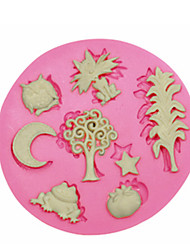 cheap -Cute Animal Plant Silicone Mould Cake Decorating Silicone Mold For Fondant Candy Crafts Jewelry PMC Resin Clay