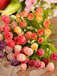 abordables -Fleurs artificielles 1 Une succursale Style Simple Roses Fleur de Table