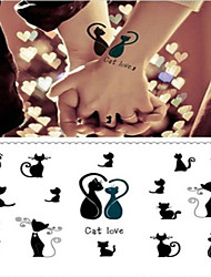 cheap -Tattoo Sticker Body / Arm / Wrist Temporary Tattoos 1 pcs Animal Series Professional / High quality, formaldehyde free Body Arts Birthday Party / Company Party
