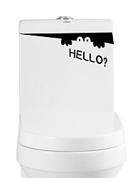 Недорогие -Животные Слова и фразы Наклейки Простые наклейки Декоративные наклейки на стены Наклейки для туалета,Винил материал Съемная Украшение дома
