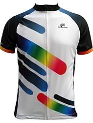 JESOCYCLING Maillot de Ciclismo Hombre Manga Corta Bicicleta Camiseta/Maillot Top Secado rápido Transpirable Bolsillo trasero 100%