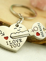 cheap -Keychain Silver Alloy Lovers, Love For Daily Wear