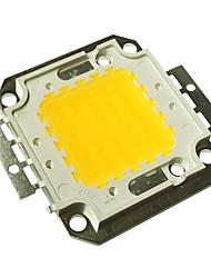 jiawen® 50w 3000k 4000-4500lm blanc chaud led puce (dc 30-33v)
