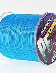 cheap -300M / 330 Yards PE Braided Line / Dyneema / Superline Fishing Line Blue 40LB / 45LB / 30LB / 50LB 0.26mm,0.29mm,0.30mm,0.32mm mm ForSea