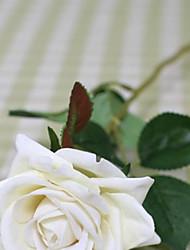 """Недорогие -21 """"л жемчужина выросла шелковые ткани цветы набор из 3 белый"""