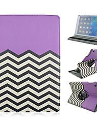 billige -Specielt Design - 360⁰ Cases ( PU / Læder , Grøn/Blå/Lyserød/Lilla ) - Æble iPad 2/iPad 4/iPad 3