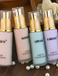 billige -Ensfarvet Flydende 1 pcs Våd Ansigt Makeup Kosmetiske