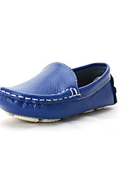 cheap -Boys' / Girls' Shoes Leather / Synthetic Fall Moccasin Boat Shoes for White / Blue / Orange