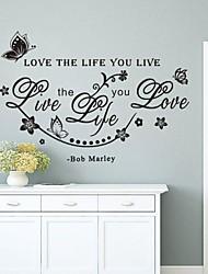 economico -Parole e citazioni Adesivi murali Adesivi aereo da parete Adesivi decorativi da parete,Vinile Materiale Rimovibile Decorazioni per la casa