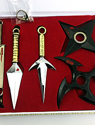 Weapon Inspired by Naruto Cosplay Anime Cosplay Accessories Weapon Black / Golden Alloy Male / Female