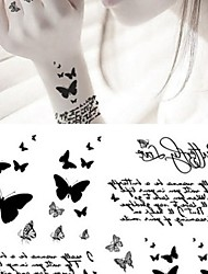 cheap -Fashion Personality Black Butterfly Tattoo Stickers Temporary Tattoos(1 pc)