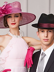 Недорогие -популярные льна женщины на открытом воздухе / Банкетный / случайный / Гастрономия шляпы с пером
