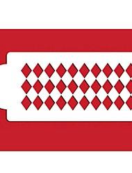 Four-C Torta di plastica stencil decorazione delle forniture di colore bianco st-448