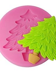 quatro c molde fondant árvore de natal molde queque silicone, ferramentas de decoração do bolo suprimentos, ferramentas fondant de decoração