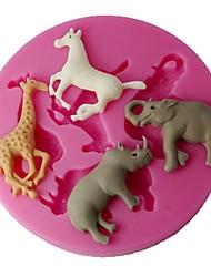 Недорогие -FOUR-C Цвет 3D-чашка торт формы силиконовые Украшения для тортов розовый