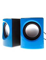 KX6 Computer/Laptop/MP3/MP4 Wired Play Speaker Eyes Shape Blue
