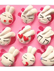 desenhos animados bonitos do coelho adorável moldes do bolo fondant de chocolate do molde para o cozimento cozinha para doces de açúcar
