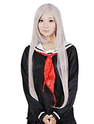 cheap -Japan and South Korea fashion cartoon silvery white long straight hair
