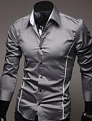 Camisa Casual ( Algodão/Raiom ) MEN - Vintage/Casual/Pesta/Trabalho Manga Comprida