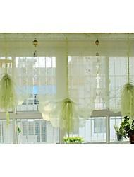 """Недорогие -одна панель 85cmwx145cml33 """"wx57"""" л цветочный / вышитые / ботанический поли тюль чисто"""