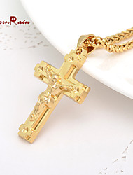 cheap -Women's Pendant Necklace - Gold Plated Cross Gold Necklace For
