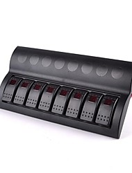 Boat Switch Panel Boat 8 Gang Led Rocker Switch Panel