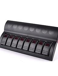 abordables -interrupteur Bateau de panneau 8 gang dirigé panneau de commutateur à bascule