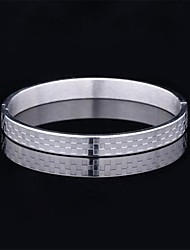 cheap -Men's Bracelet Vintage Party Work Casual Bangle Steel Alloy Jewelry Christmas Gifts Costume Jewelry Gold Silver