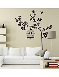 murali Stickers adesivi murali, stile uccello nero sulle adesivi murali albero pvc