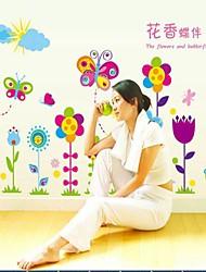 Недорогие -окружающей среды съемный бабочка и цветок ПВХ стены наклейки