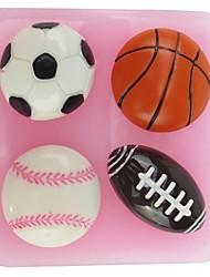 fondant forma molde bolo de chocolate silicone futebol basquete NFL, ferramentas de decoração cupcake, l6cm * * w6.1cm h1.8cm