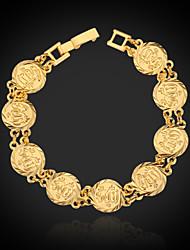 placcato u7® oro reale 18k grosso musulmano allah braccialetto braccialetto gioielli regalo islamico per le donne gli uomini 19 centimetri