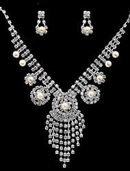 Conjunto de jóias Mulheres Aniversário / Noivado / Festa / Ocasião Especial Conjuntos de Joalharia Zircônia Cubica / Liga Zircônia Cubica