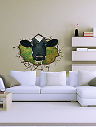 economico -3d Il muro mucca decalcomanie adesivi murali