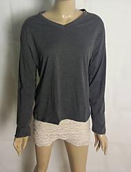 camicia di cotone con scollo a V coco zhang donne